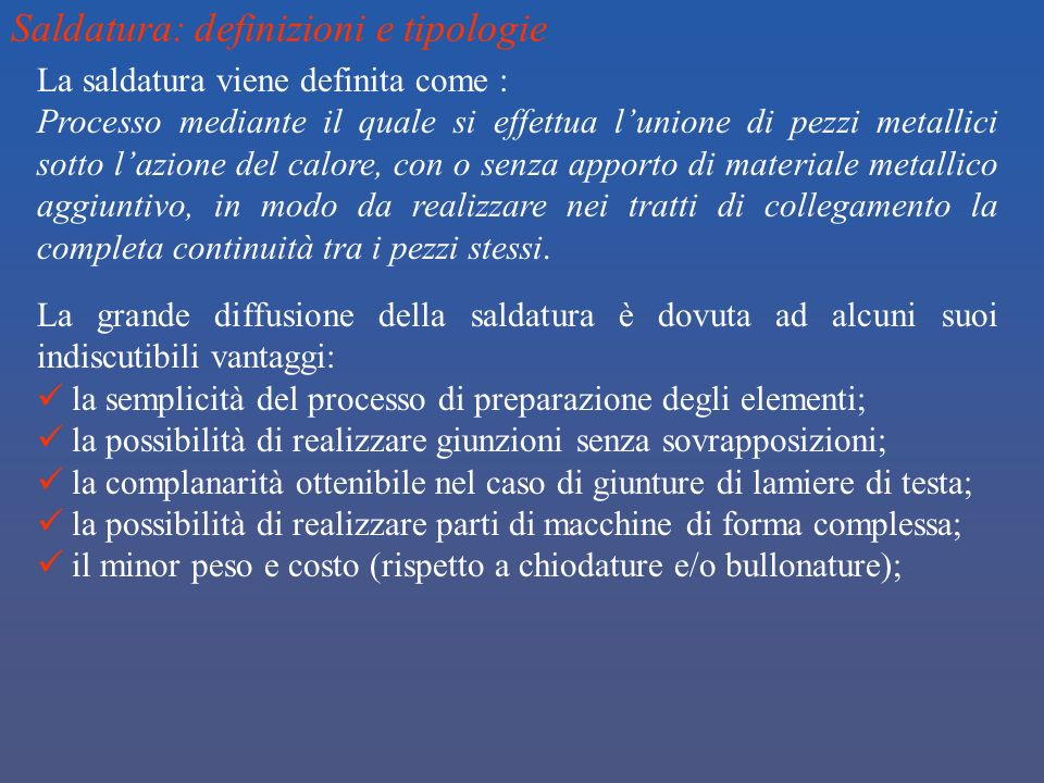 Saldatura: definizioni e tipologie