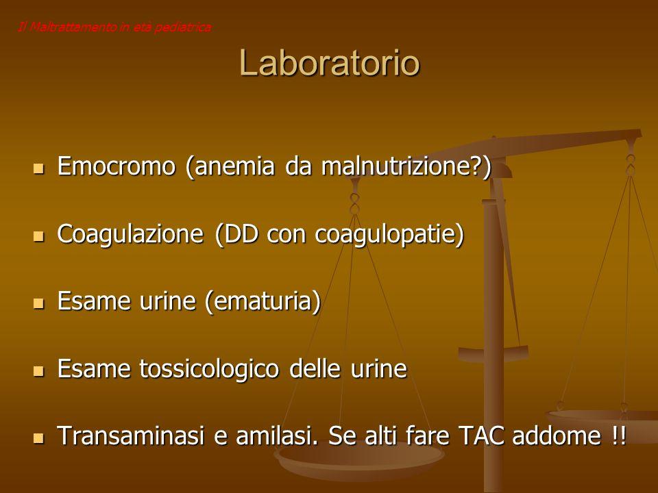 Laboratorio Emocromo (anemia da malnutrizione )