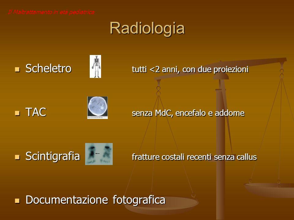 Radiologia Scheletro tutti <2 anni, con due proiezioni