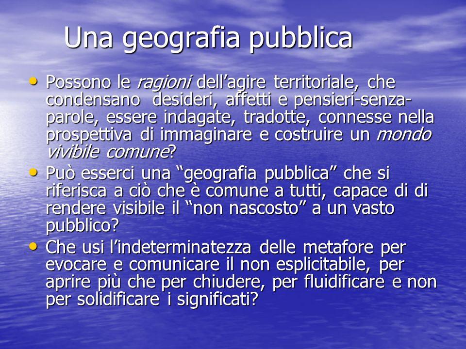 Una geografia pubblica