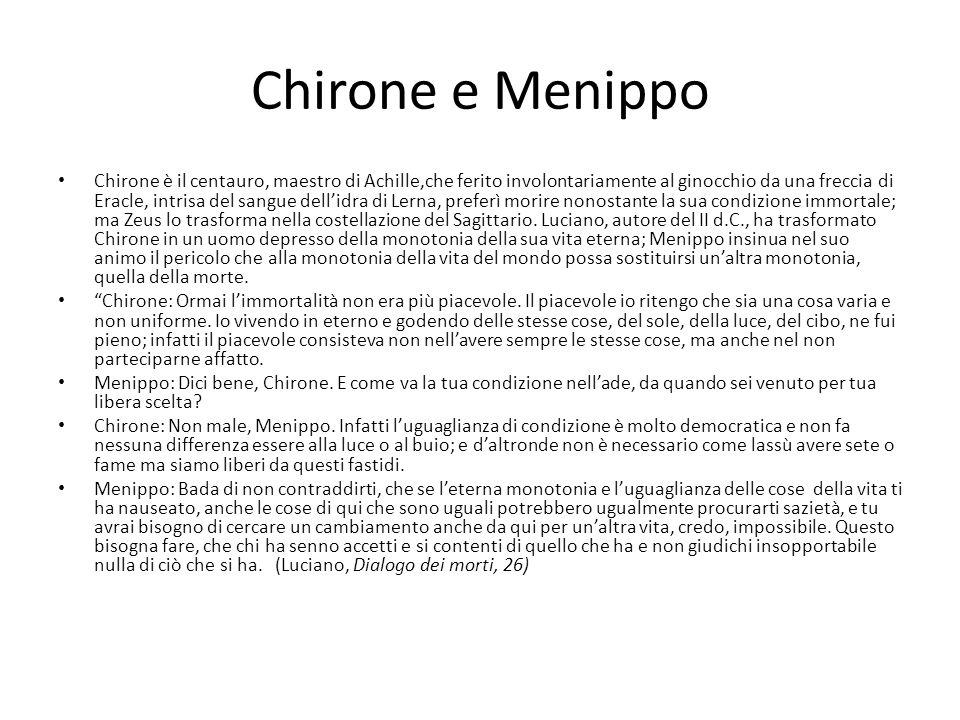 Chirone e Menippo