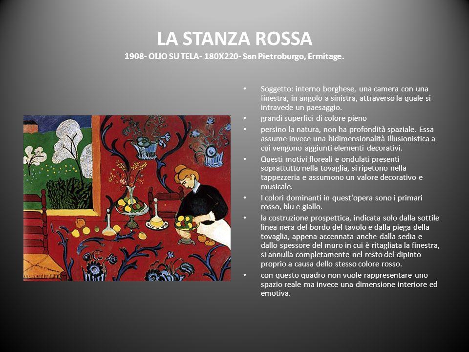 LA STANZA ROSSA 1908- OLIO SU TELA- 180X220- San Pietroburgo, Ermitage.