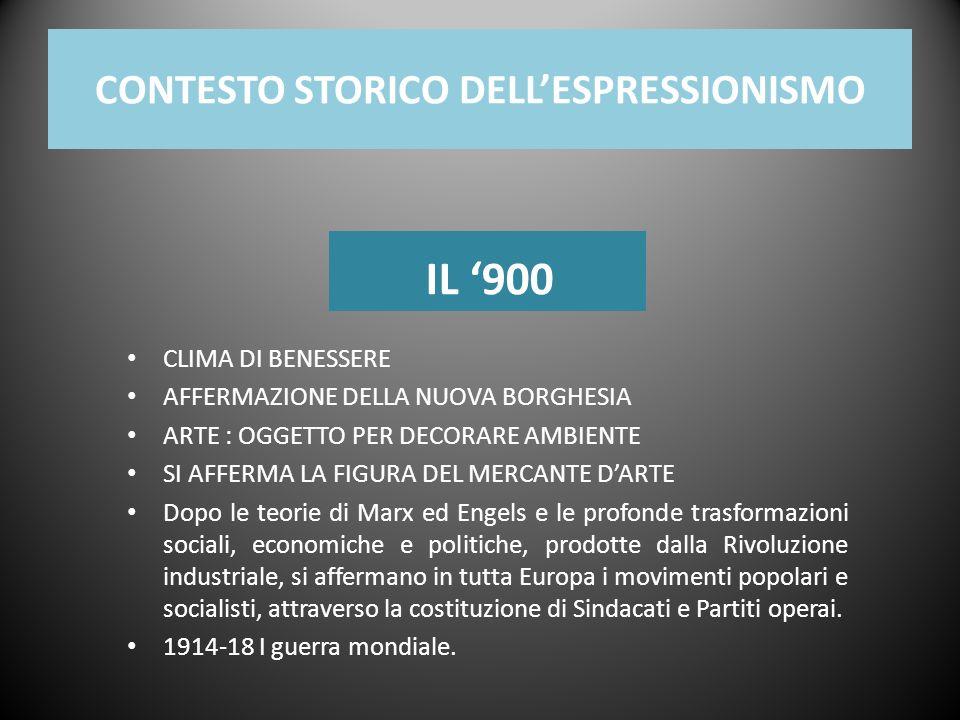 CONTESTO STORICO DELL'ESPRESSIONISMO