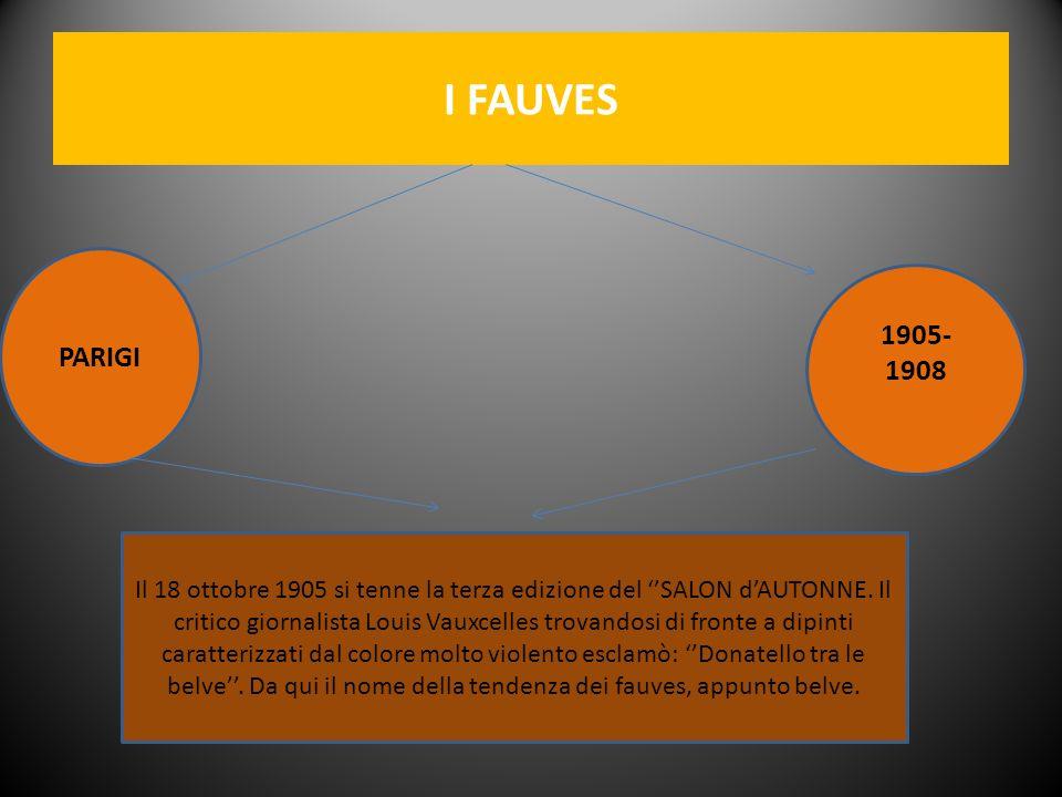 I FAUVES PARIGI. 1905- 1908.
