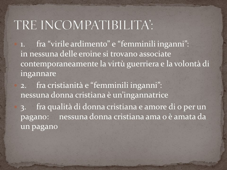 TRE INCOMPATIBILITA':