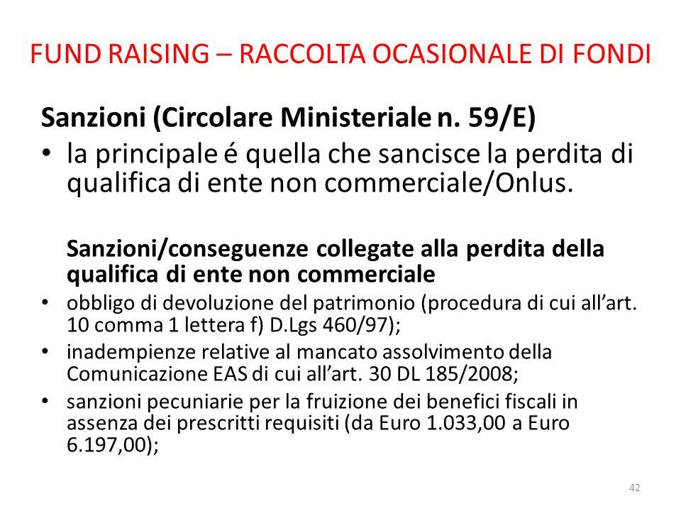 FUND RAISING – RACCOLTA OCASIONALE DI FONDI
