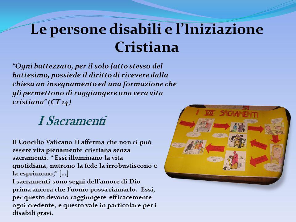 Le persone disabili e l'Iniziazione Cristiana
