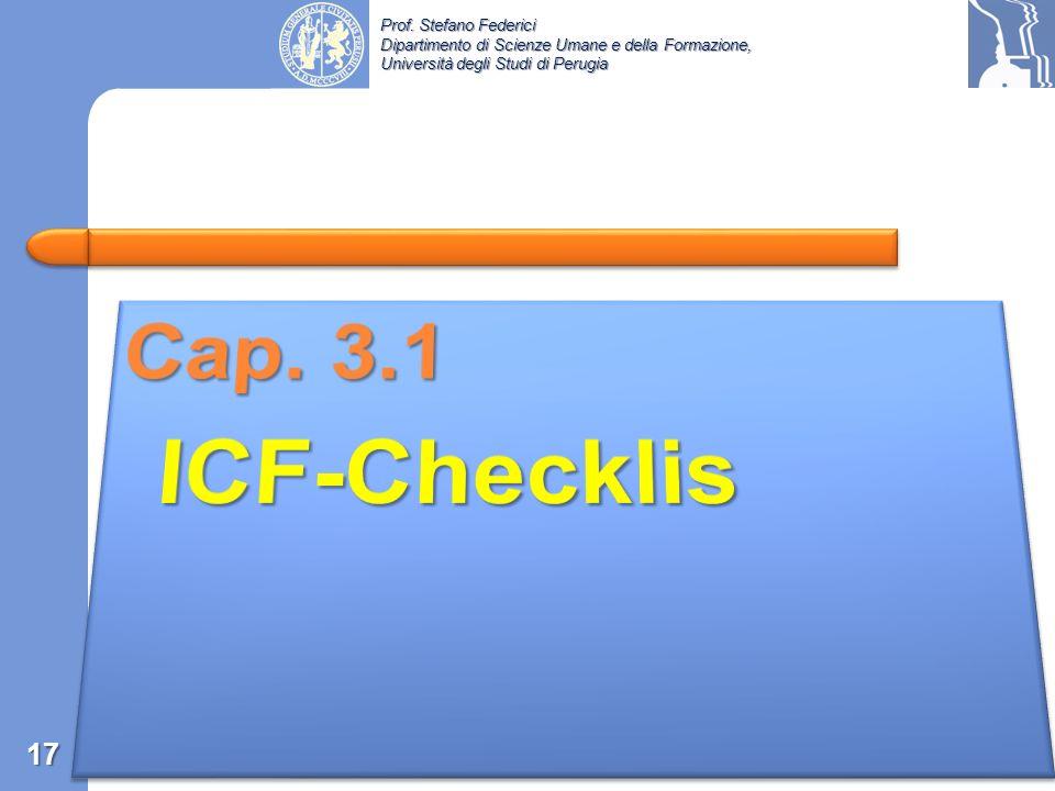 Cap. 3.1 ICF-Checklis