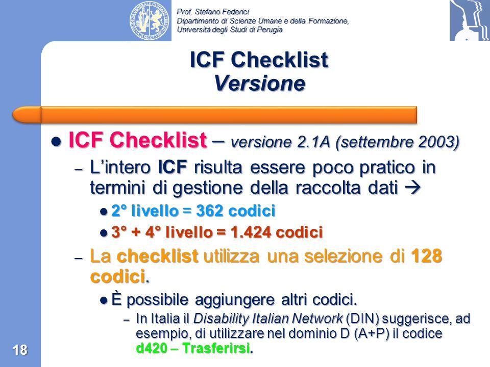 ICF Checklist Versione