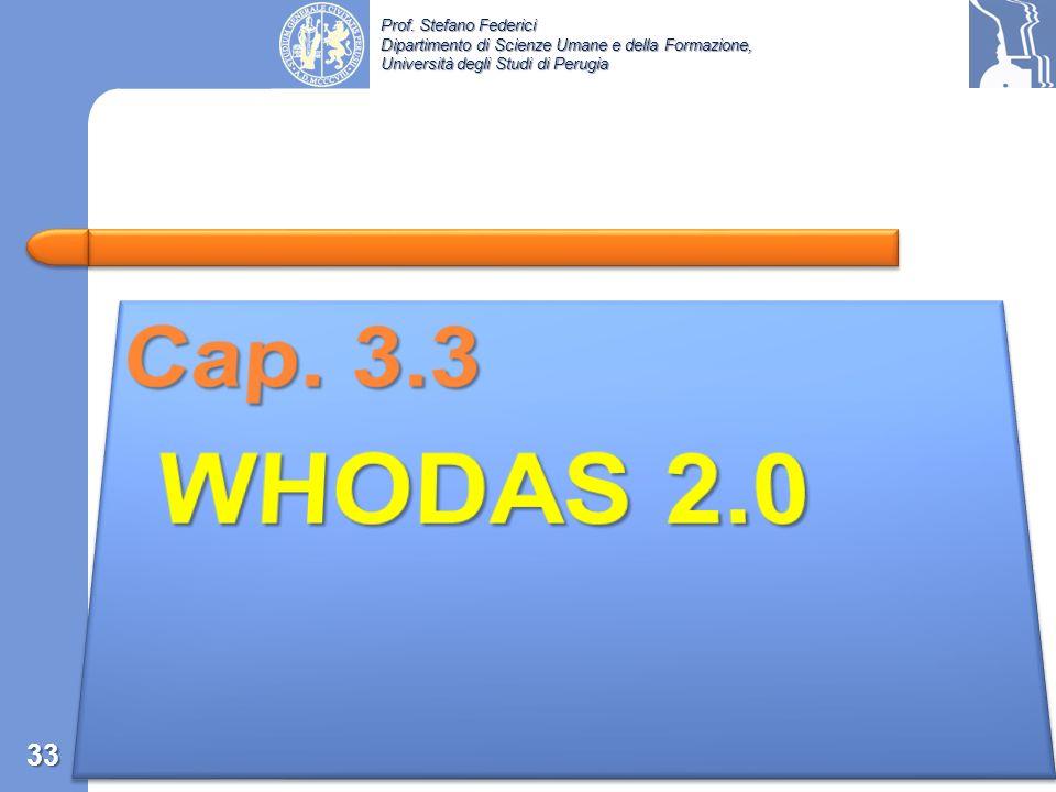 Cap. 3.3 WHODAS 2.0