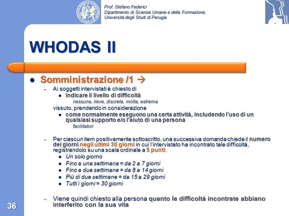 WHODAS II Somministrazione /1 