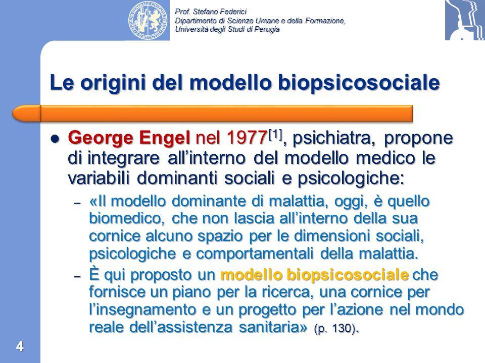 Le origini del modello biopsicosociale