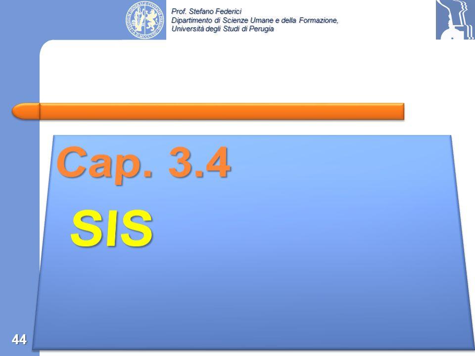 Cap. 3.4 SIS