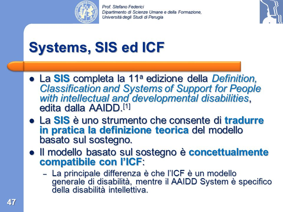 Systems, SIS ed ICF
