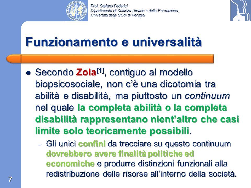 Funzionamento e universalità