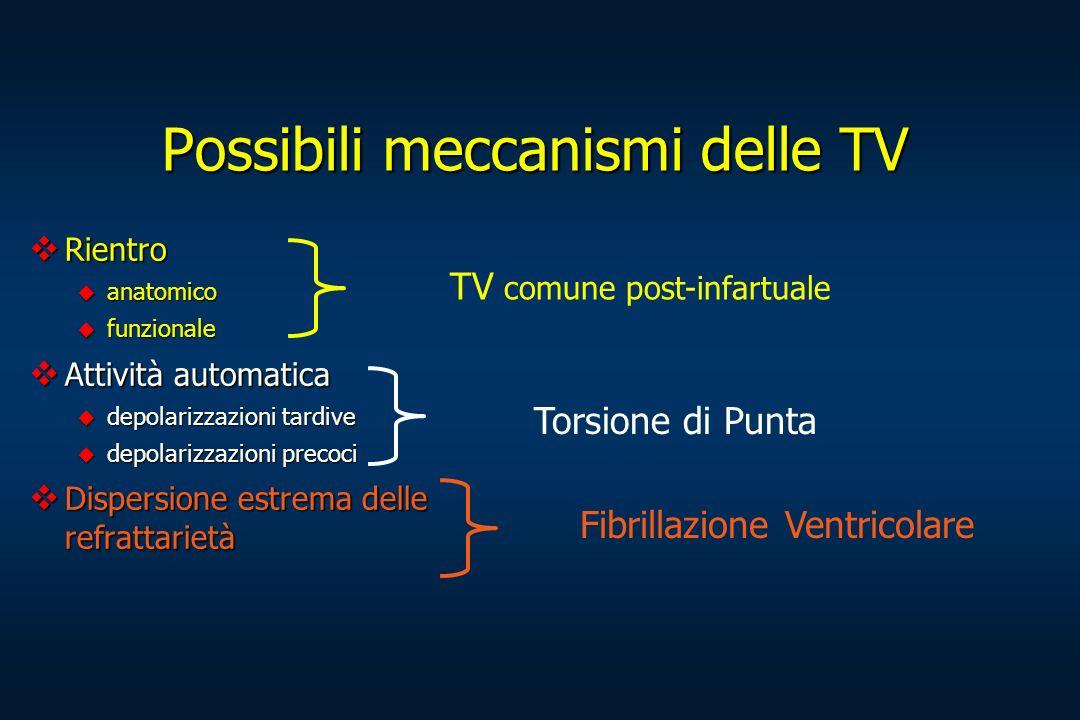 Possibili meccanismi delle TV