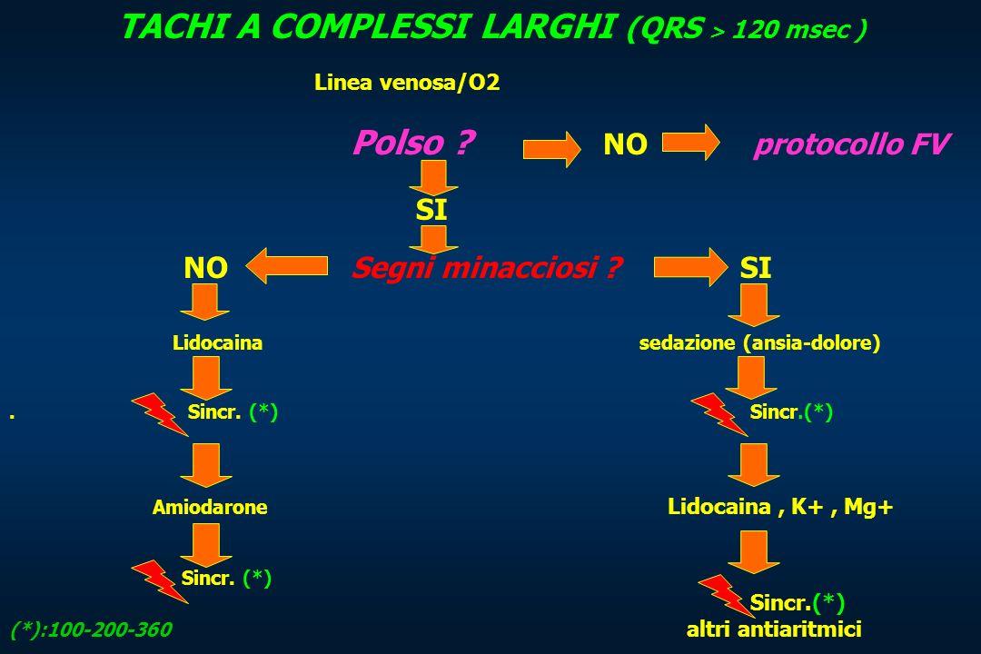 TACHI A COMPLESSI LARGHI (QRS > 120 msec )