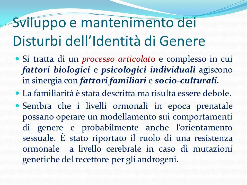 Sviluppo e mantenimento dei Disturbi dell'Identità di Genere