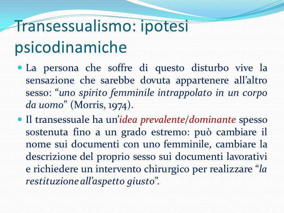 Transessualismo: ipotesi psicodinamiche
