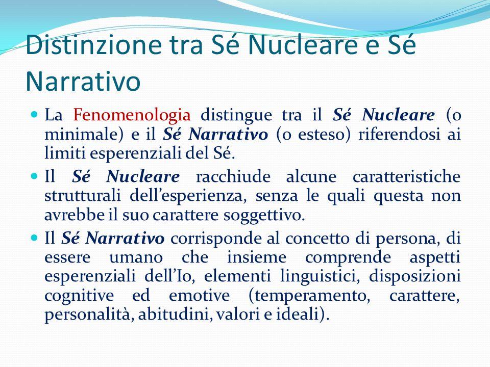 Distinzione tra Sé Nucleare e Sé Narrativo
