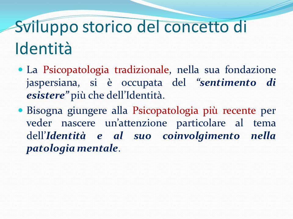 Sviluppo storico del concetto di Identità