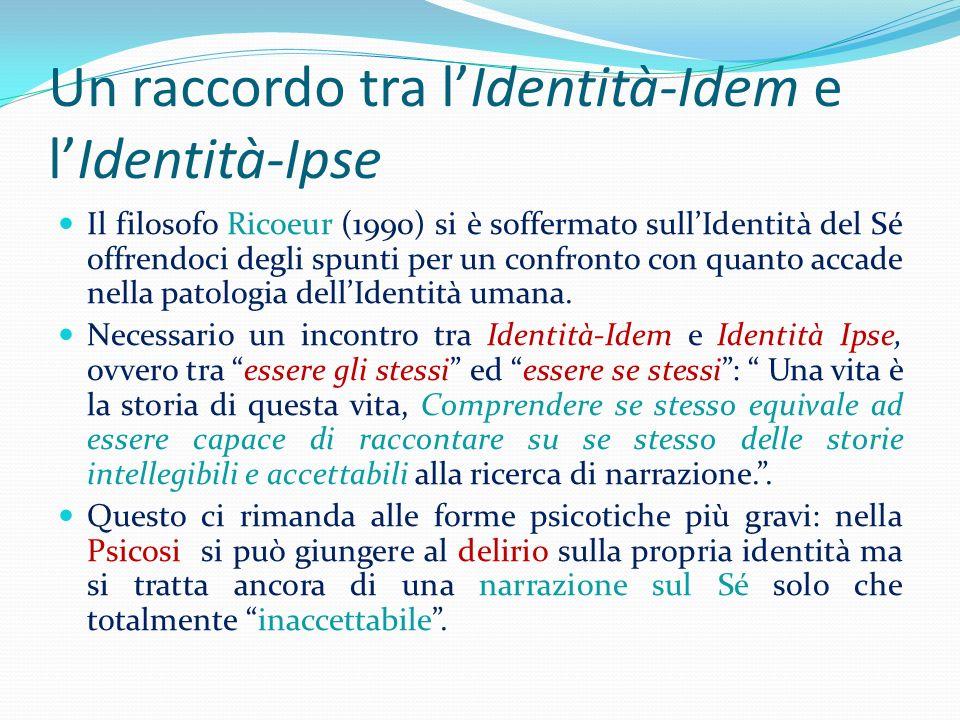 Un raccordo tra l'Identità-Idem e l'Identità-Ipse