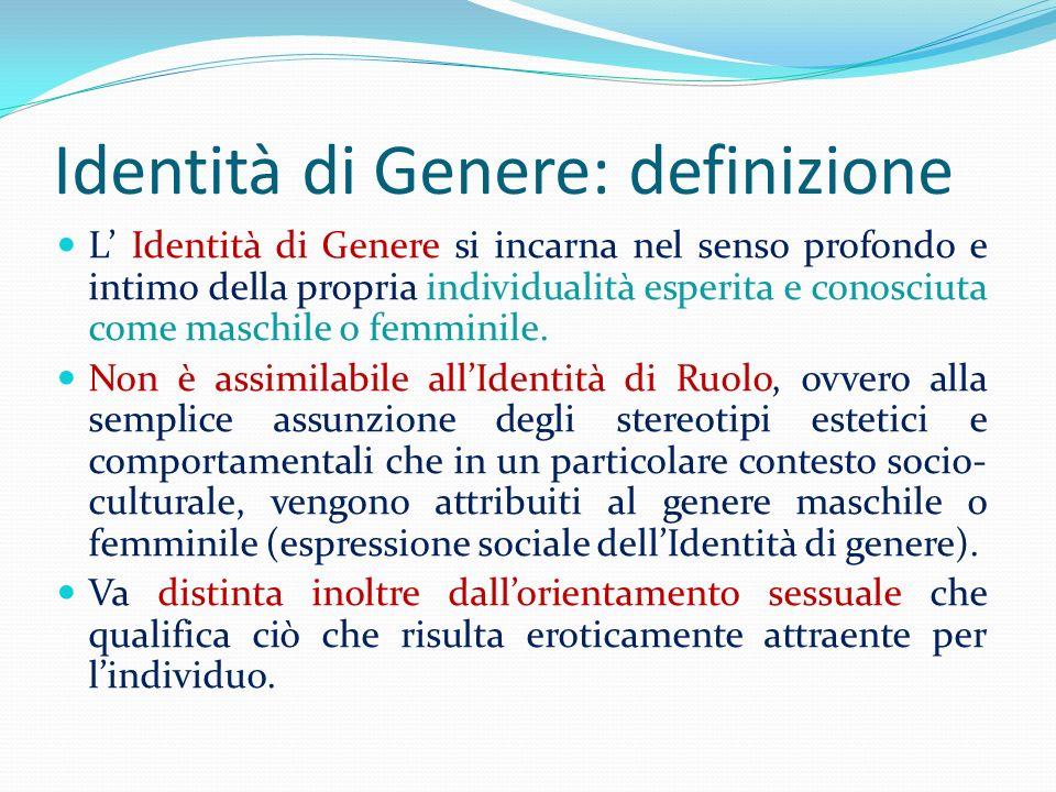 Identità di Genere: definizione