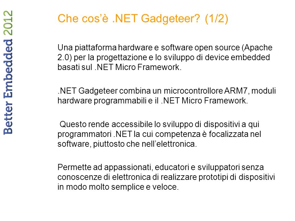 Che cos'è .NET Gadgeteer (1/2)