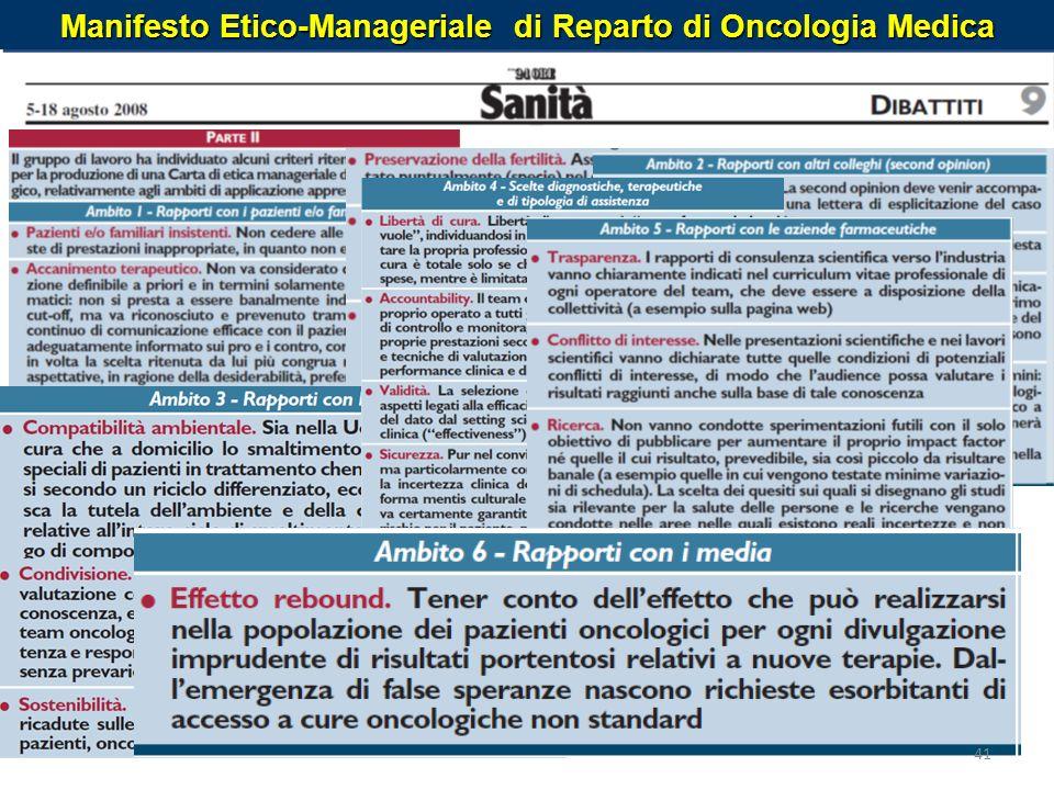 Manifesto Etico-Manageriale di Reparto di Oncologia Medica