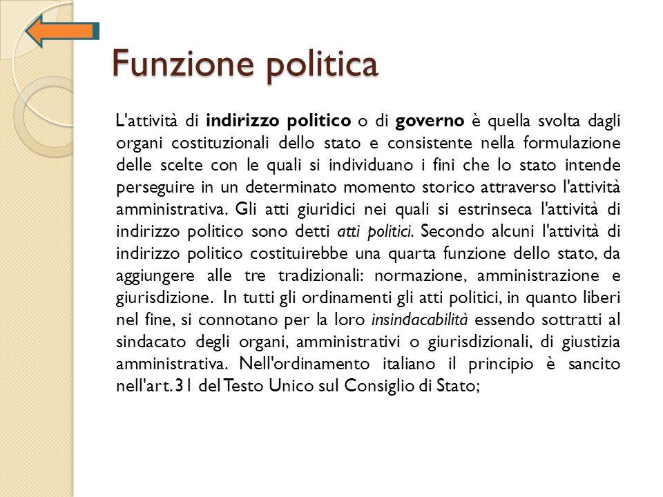 Funzione politica
