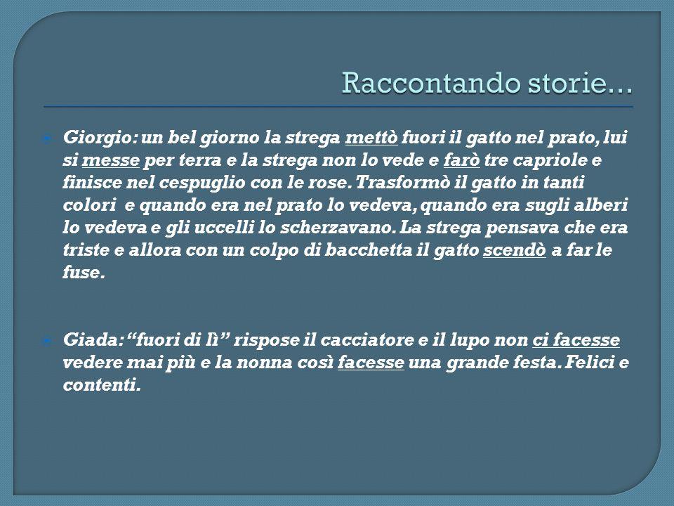 Raccontando storie...