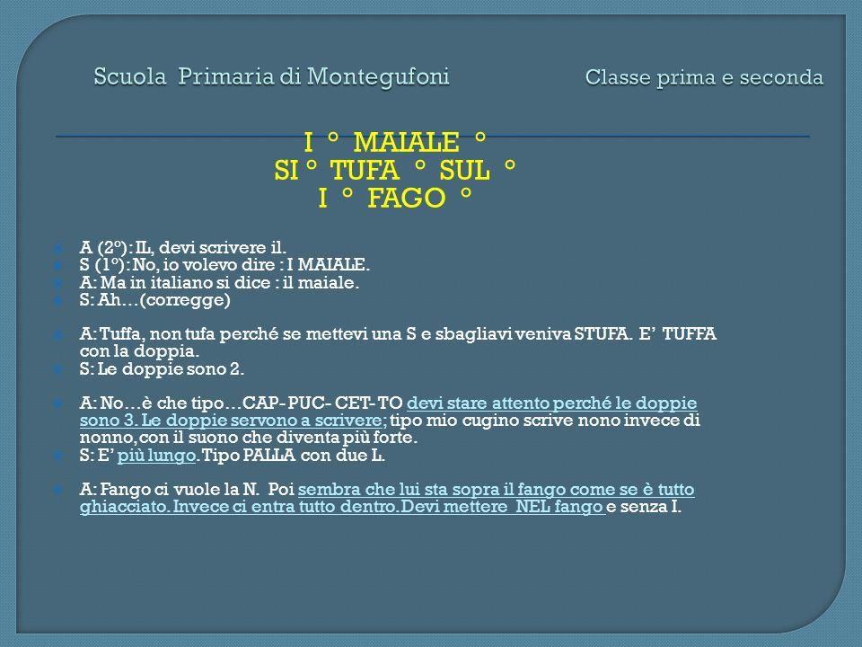 Scuola Primaria di Montegufoni Classe prima e seconda