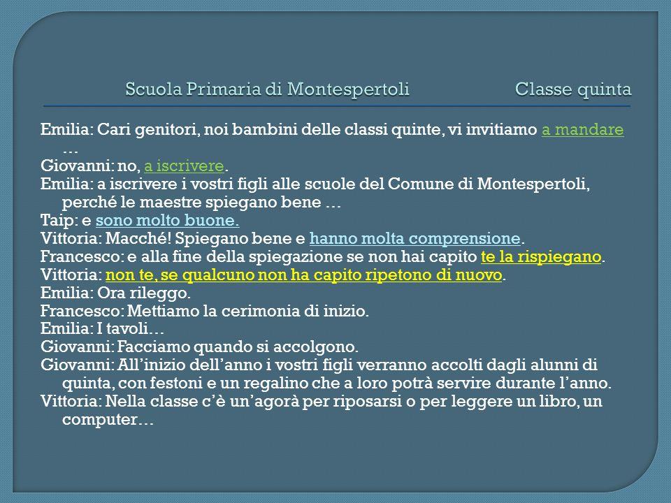 Scuola Primaria di Montespertoli Classe quinta