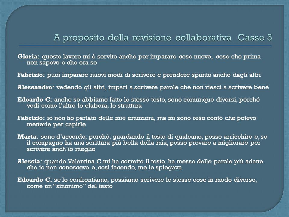 A proposito della revisione collaborativa Casse 5