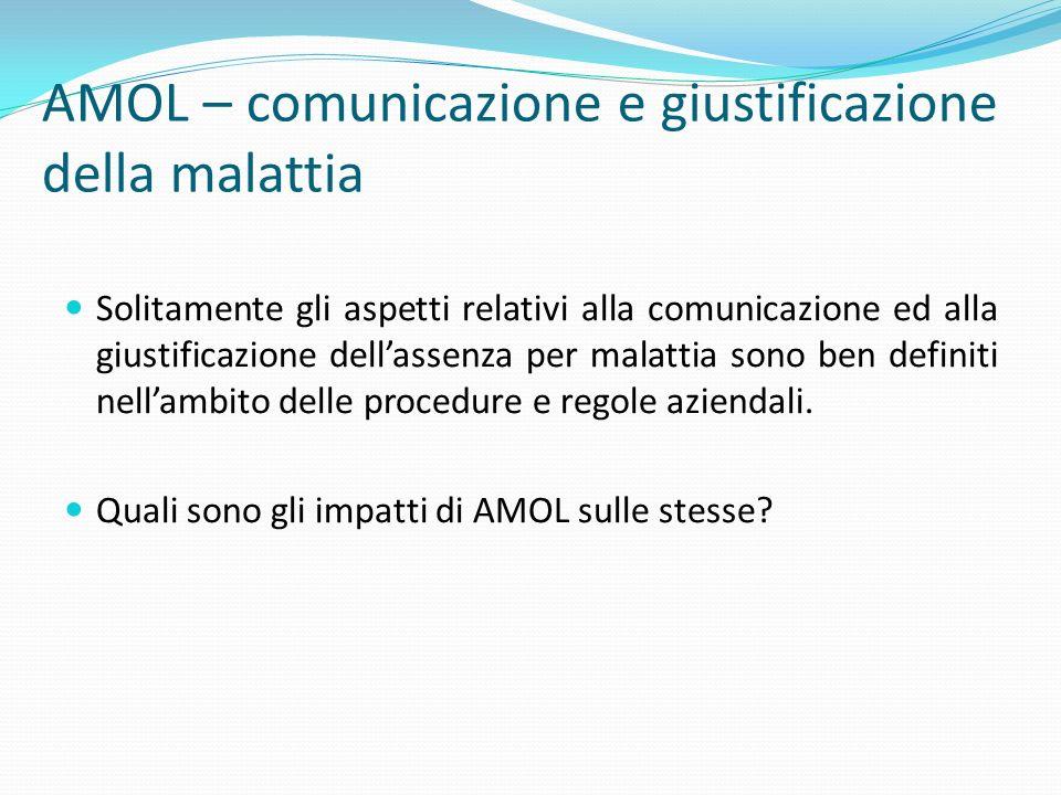 AMOL – comunicazione e giustificazione della malattia