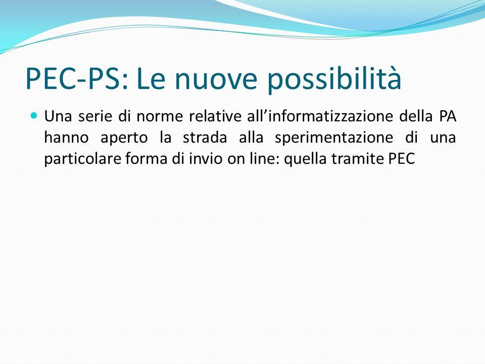PEC-PS: Le nuove possibilità