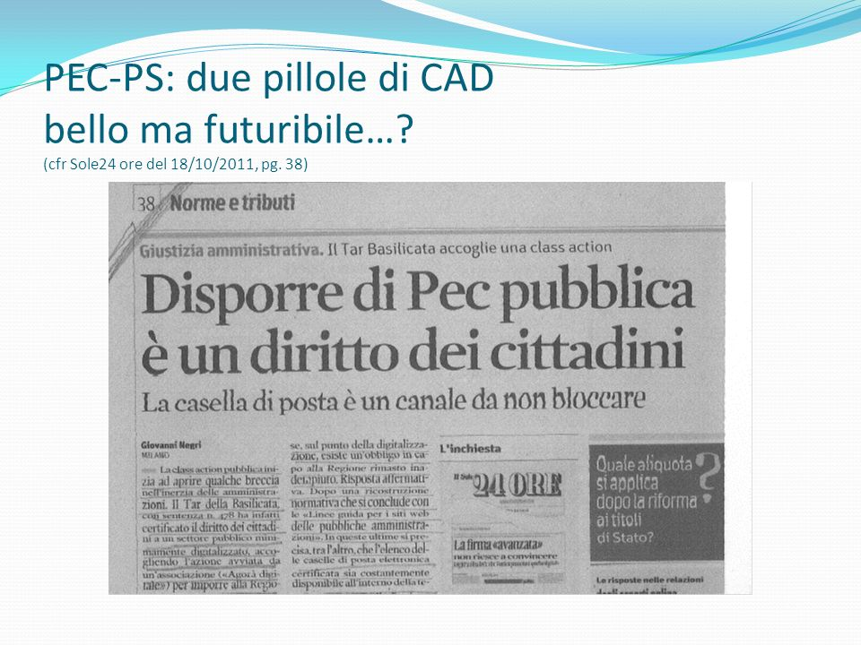 PEC-PS: due pillole di CAD bello ma futuribile…