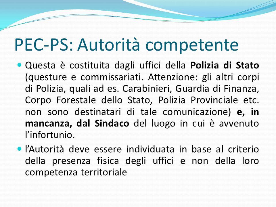 PEC-PS: Autorità competente