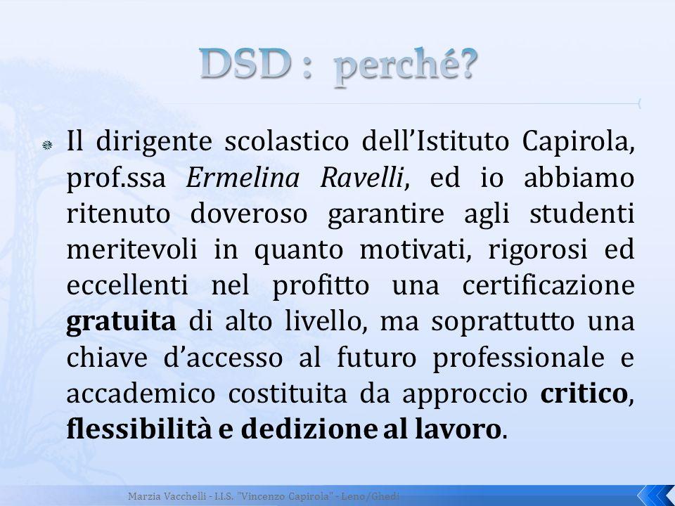 DSD : perché