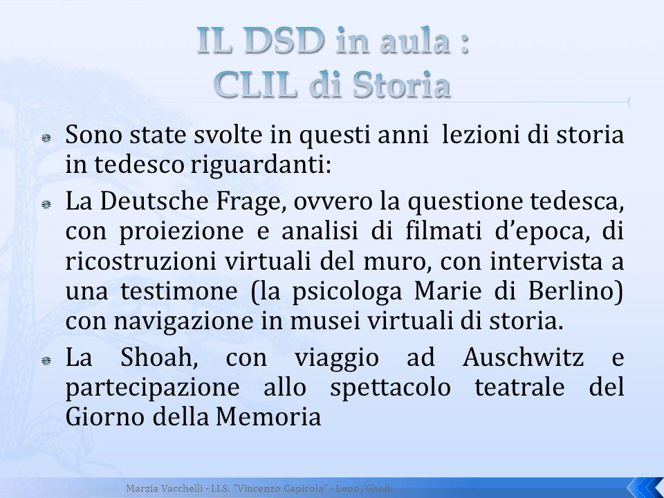 IL DSD in aula : CLIL di Storia