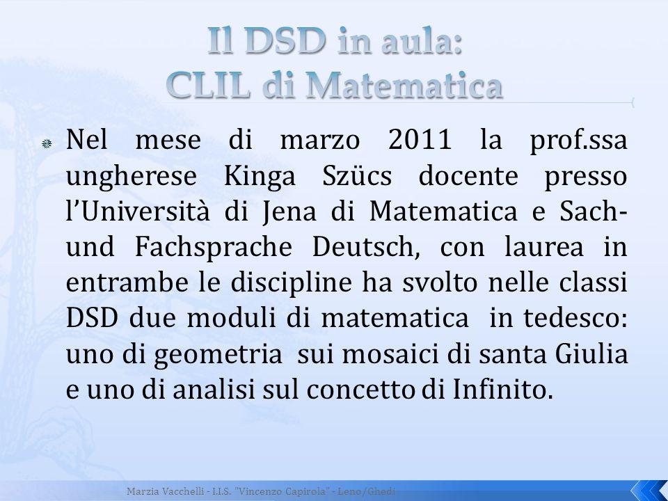 Il DSD in aula: CLIL di Matematica
