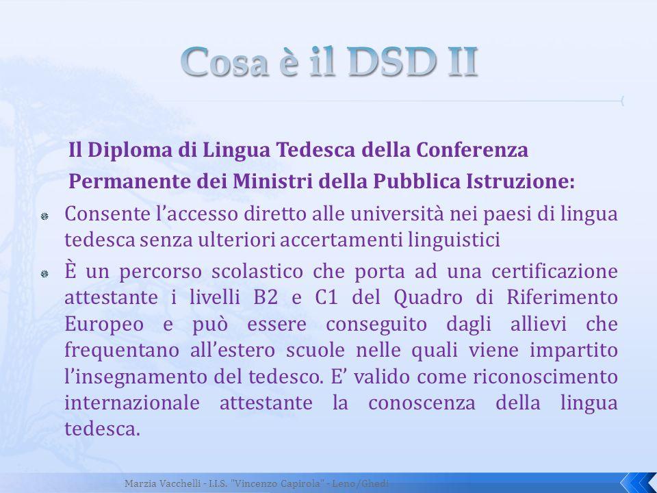 Cosa è il DSD II Il Diploma di Lingua Tedesca della Conferenza