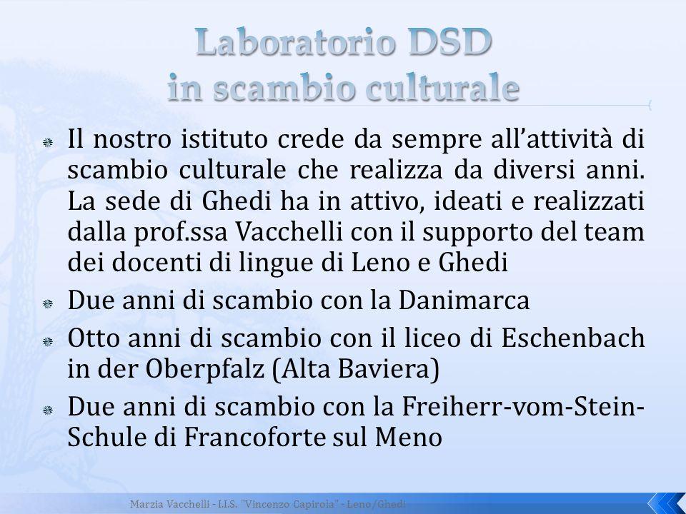 Laboratorio DSD in scambio culturale
