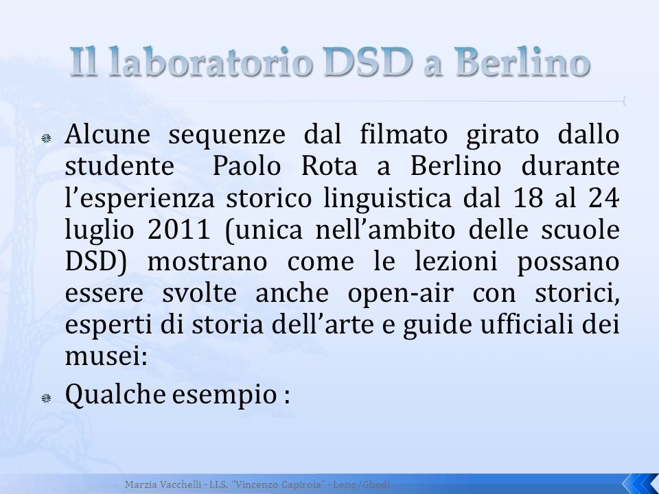 Il laboratorio DSD a Berlino