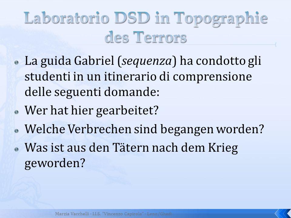 Laboratorio DSD in Topographie des Terrors