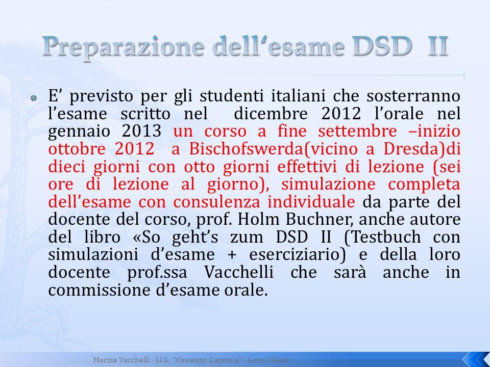 Preparazione dell'esame DSD II