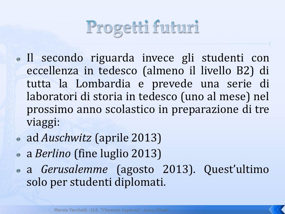 Progetti futuri