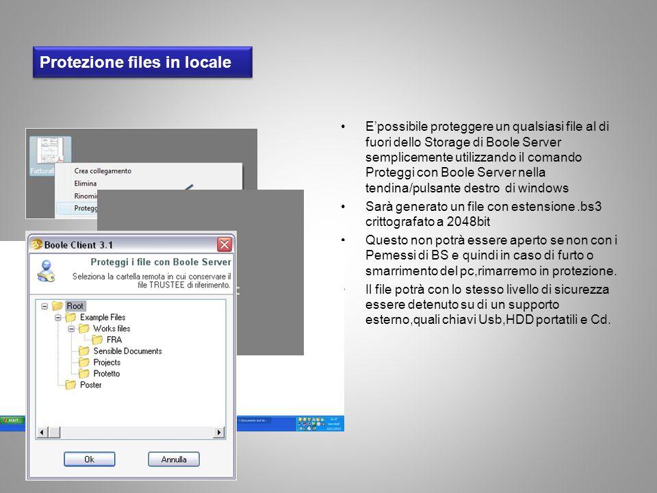 Protezione files in locale