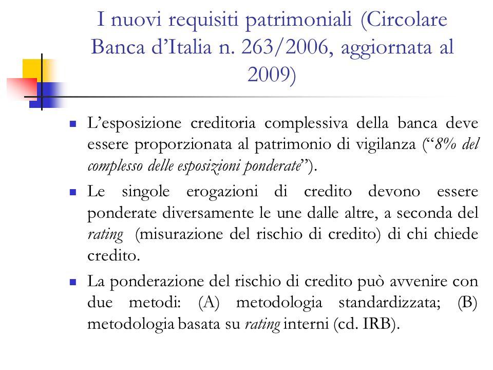 I nuovi requisiti patrimoniali (Circolare Banca d'Italia n