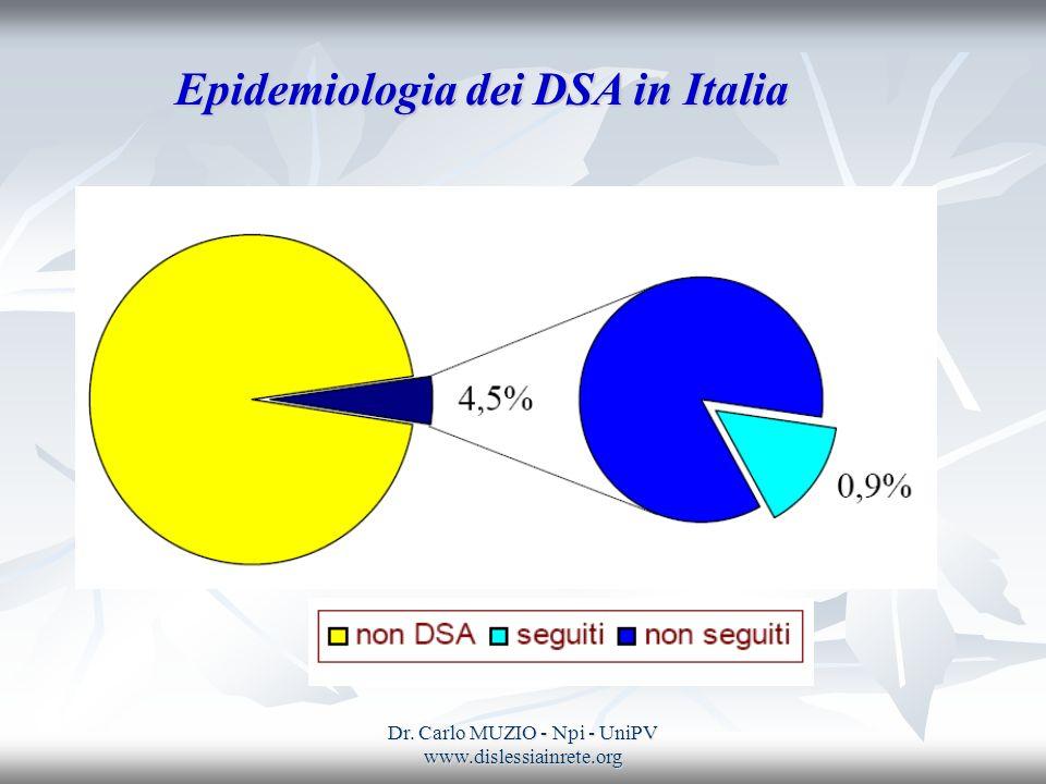 Epidemiologia dei DSA in Italia